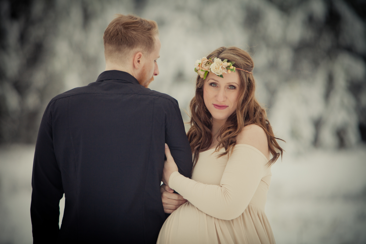 Wink-photography-in studio-on location-copy right-idaho-photographer-newport washington-priest lake-maturnity-model-beautiful-couple-stunning-winter-snow princess-trees-love-fairy tale-captivat